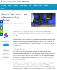 Innovate Medtech Malaysia Continues to Lead in Nanotechnology Initiatives 141123