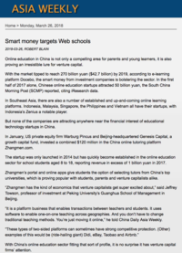 Asia Weekly Smart money targets web schools 180326