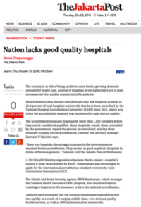 Jakarta Post Nation lacks good quality hospitals 161020